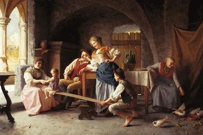 The See-Saw Giclee Print by Giovanni Battista Torriglia