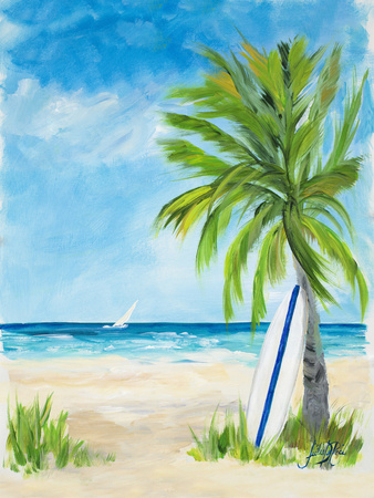 Tropical Surf I Posters by Julie DeRice