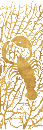 Sealife on Gold II Posters by Julie DeRice