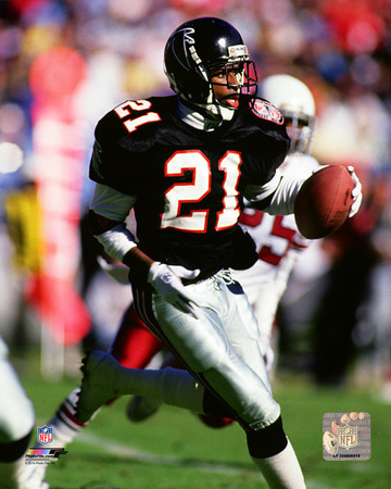 Deion Sanders 1990 Action Photo