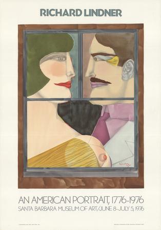 An American Portrait Affischer av Richard Lindner