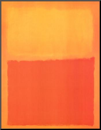Arancione e giallo Stampa montata di Mark Rothko