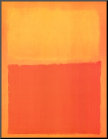 Orange and Yellow Mounted Print by Mark Rothko