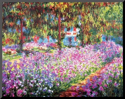 The Artist's Garden at Giverny, c.1900 Mounted Print by Claude Monet