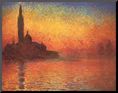 San Giorgio Maggiore by Twilight, c.1908 Mounted Print by Claude Monet