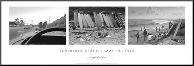Surfrider Beach, May 14th, 1960 Mounted Print by Leigh Wiener