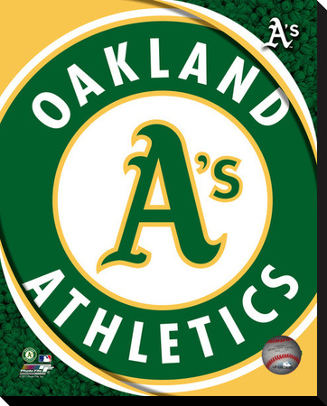 Oakland A's Logo Stretched Canvas Print