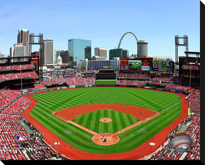 Busch Stadium Stretched Canvas Print!