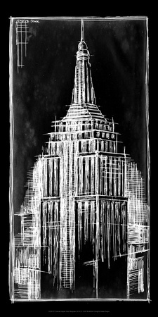 Empire State Blueprint Prints by Ethan Harper