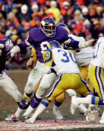 Carl Eller 1976 NFC Championship Game Action Photo