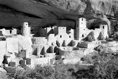 Cliff Palace Pueblo BW Photographic Print by Douglas Taylor