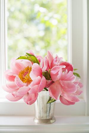 Peonies in Vase II Photographic Print by Karyn Millet