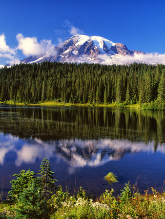 Mt. Rainer II Photographic Print by Ike Leahy