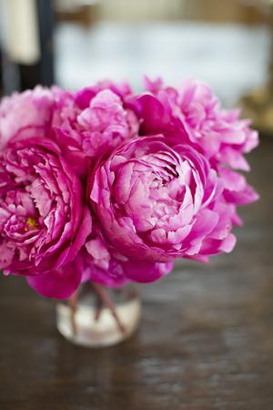 Peonies in Vase Photographic Print by Karyn Millet