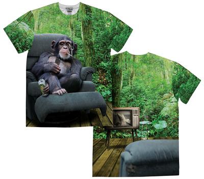 Lazy Chimp (Front/Back) Sublimated