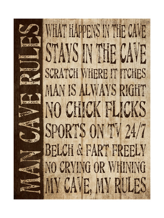 Man Cave Rules Prints by N. Harbick