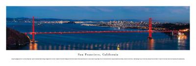 San Francisco - Golden Gate at Night - Unframed Prints by Christopher Gjevre