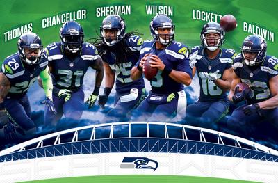 NFL: Seattle Seahawks- Team 16 Prints