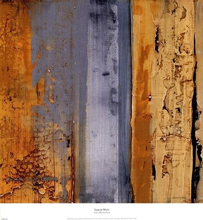 Ochre, Blue Overlay II Prints by Sarah West