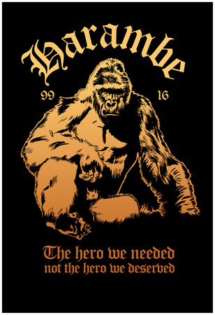 Harambe our Hero Póster