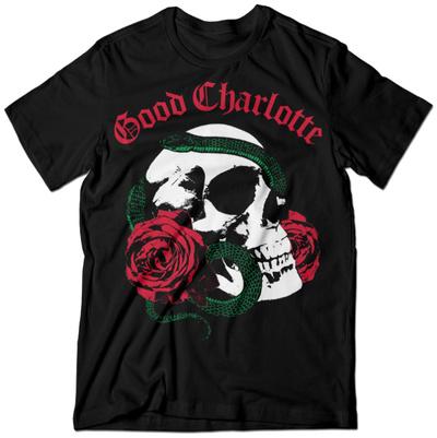 Good Charlotte- Rosey Snake Skull Shirt
