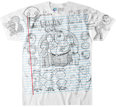 Family Guy- Family Guy Sketch T-Shirt