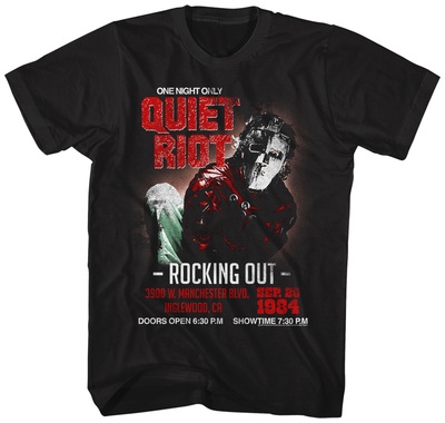Quiet Riot- Rocking Out One Night Only T-Shirt