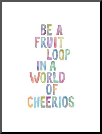 Be A Fruit Loop Mounted Print by Brett Wilson
