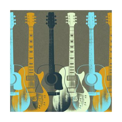 Guitars 5 Poster by Stella Bradley