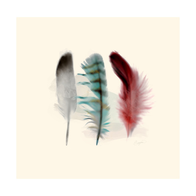 Three Feather Study 1 Posters by Evangeline Taylor
