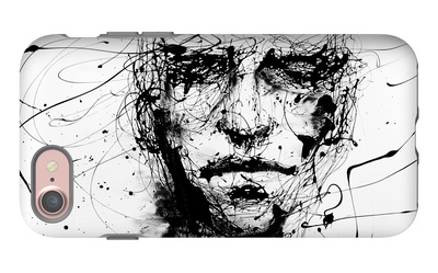 Lines Hold The Memories iPhone 7 Case by Agnes Cecile