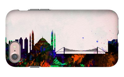 Istanbul City Skyline iPhone 7 Case by  NaxArt