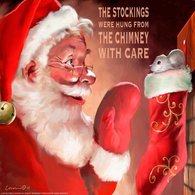 Santa 3 Stockings Prints by Chris Consani