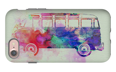 VW Bus Watercolor iPhone 7 Case by  NaxArt