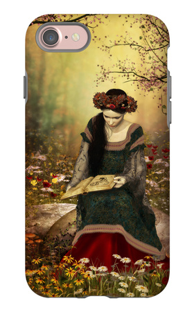 A Woman Reading A Book iPhone 7 Case by Atelier Sommerland