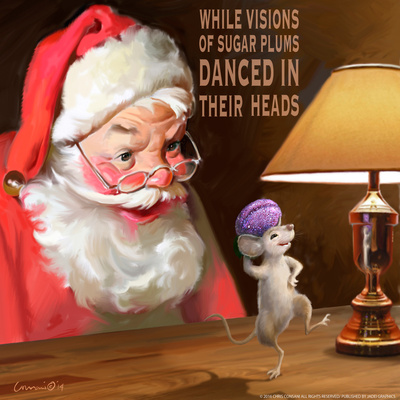 Santa 2 Sugar Plums Print by Chris Consani