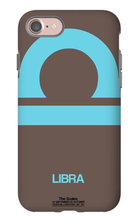 Libra Zodiac Sign Blue iPhone 7 Case by  NaxArt