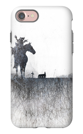 Death rides a horse iPhone 7 Case by Alex Cherry