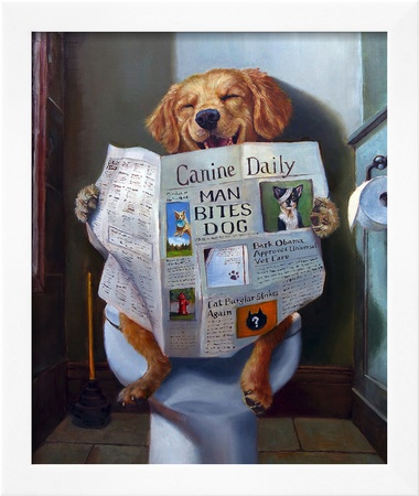 Dog Gone Funny Posters by Lucia Heffernan