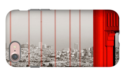 Golden Gate Bridge Closeup Panorama in San Francisco as the Famous Landmark. iPhone 7 Case by Songquan Deng