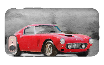 1960 Ferrari 250 GT SWB Watercolor iPhone 7 Case by  NaxArt