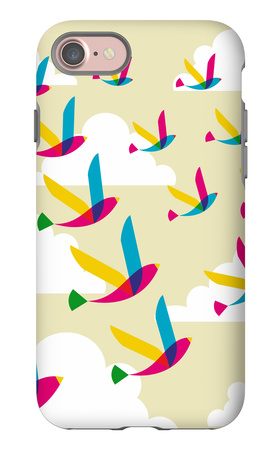 Transparent Birds Pattern iPhone 7 Case by  cienpies
