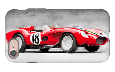 1957 Ferrari Testarossa Watercolor iPhone 7 Case by  NaxArt