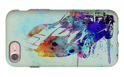 Corvette Watercolor iPhone 7 Case by  NaxArt