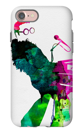 Elton Watercolor iPhone 7 Case by Lora Feldman