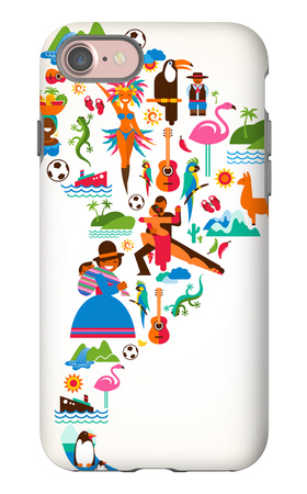 South America Love iPhone 7 Case by  Marish