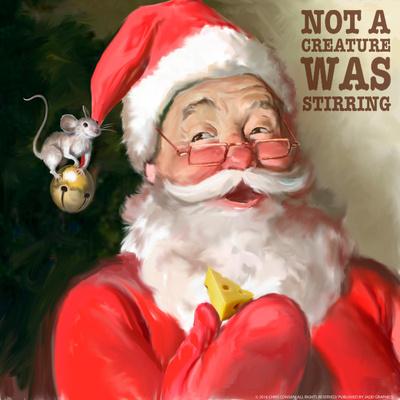 Santa 1 Stirring Prints by Chris Consani
