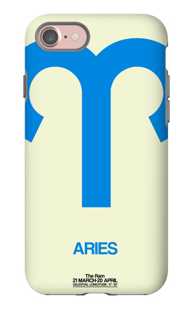 Aries Zodiac Sign Blue iPhone 7 Case by  NaxArt
