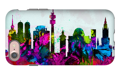 Munich City Skyline iPhone 7 Case by  NaxArt
