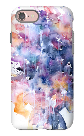 In A Single Moment All Her Greatness Collapsed iPhone 7 Case by Agnes Cecile